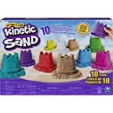Kinetic Sand, Castle Containers 10-Color Pack for Kids Aged 3 and up