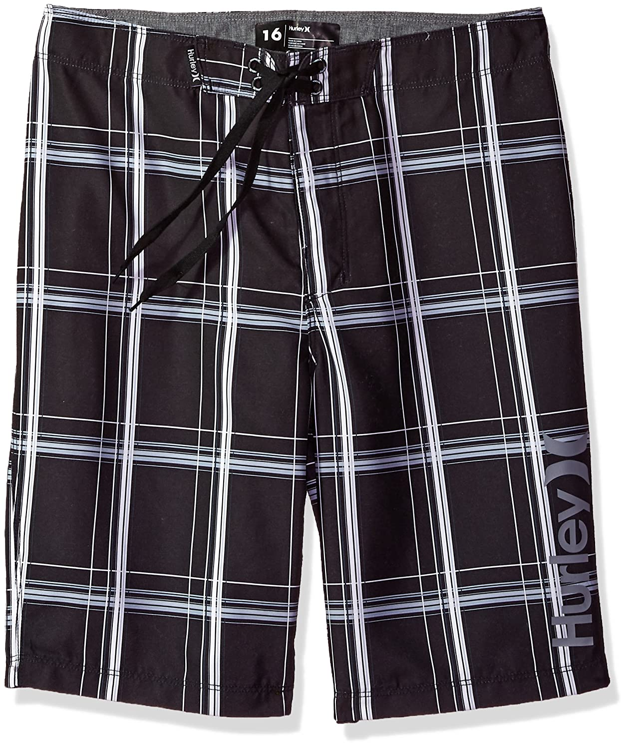 12d9791b8b Pull On closure. Machine Wash Board shorts with a plaid print and a one and  only graphic logo. Premium fabric. One back pocket. Straight hem