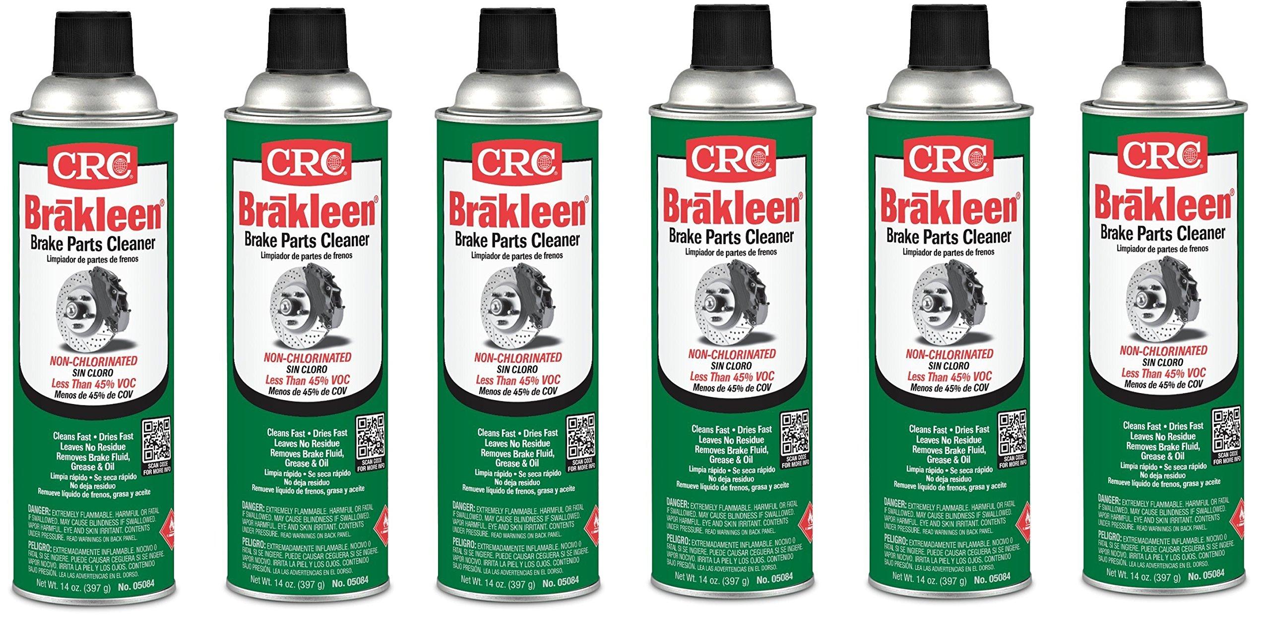 CRC 05084 BRAKLEEN Brake Parts Cleaner - Non-Chlorinated - 14 Wt Oz (6)