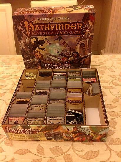 Caja organizadora de cartas Pathfinder Adventure (madera de contrachapado)