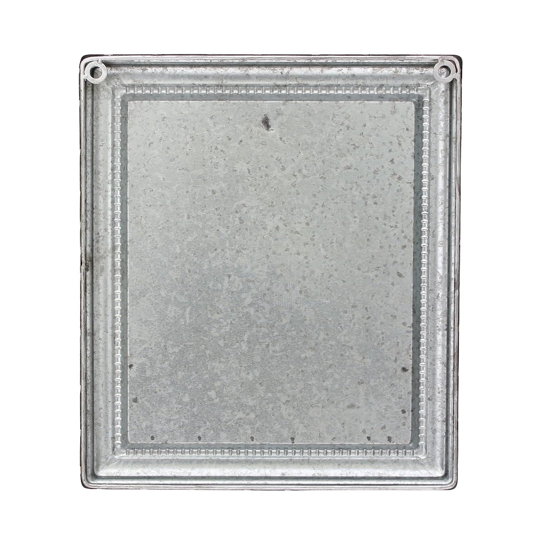 Amazon.com: Stonebriar Rustic Galvanized Metal Magnetic Memo Board ...