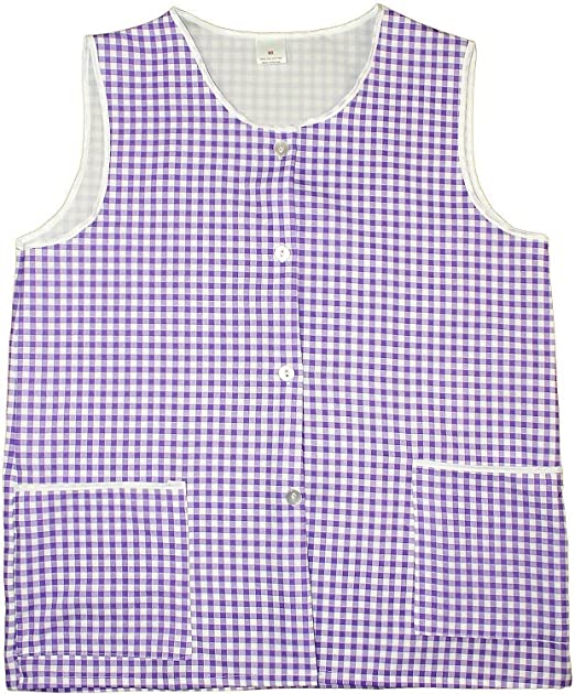 Home//Work Tabard Apron with Large Front Pocket Top Quality Gingham Check RED