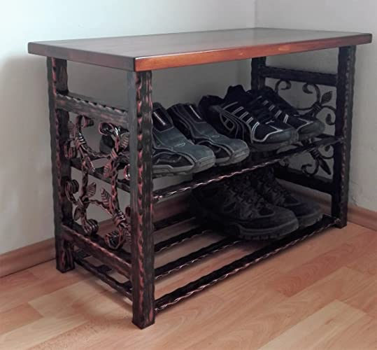 Charmant Vintage Shoe Bench Shoe Rack Storage Bench Steel Shoe Rack Organizer