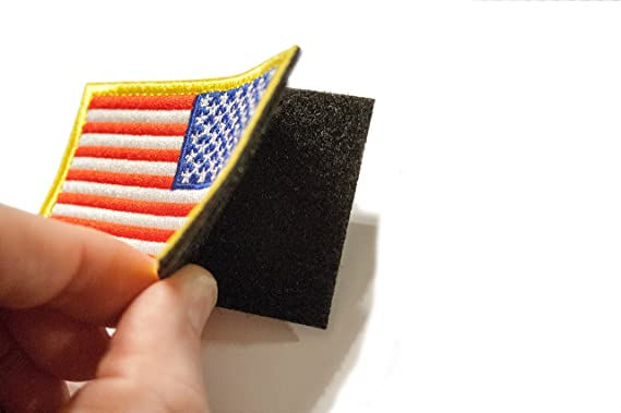 Tekma Sport American Flag Hook and Loop Tactical Patch Combination Pack Standard and Reverse