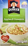 Quaker Instant Oatmeal, Apples & Cinnamon, Breakfast Cereal, 1.51 Ounce, 10 Packets Per Box (Pack of 4)