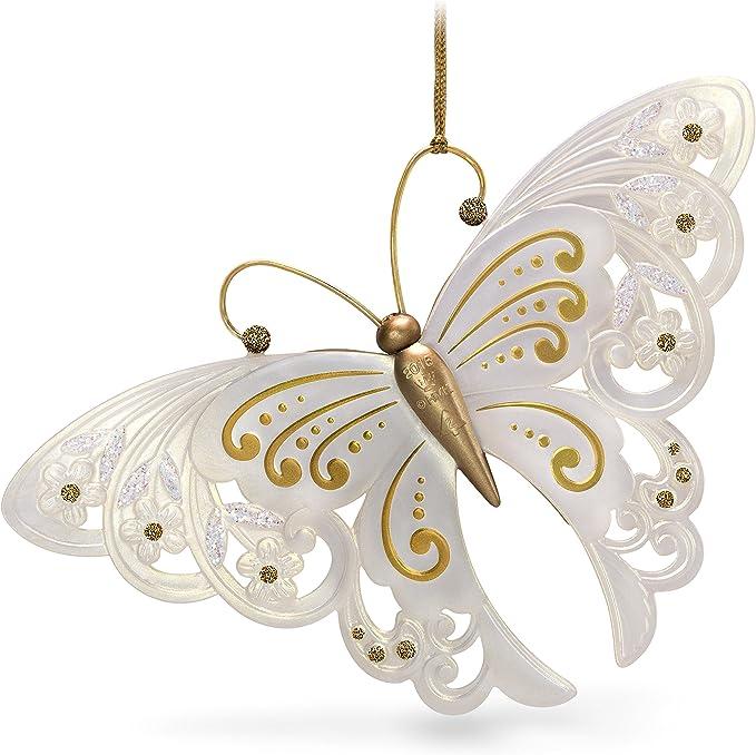 com-four/® 6X Decoraciones para /árboles de Navidad Mariposa Decorativa Mariposa de pl/ástico con Purpurina Mariposa navide/ña para Decoraciones de /árboles de Navidad 11cm - 6 Piezas