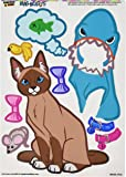Graphics and More 'Cat with Shark Costume Dress-Up' Burmese Siamese Snowshoe MAG-NEATO'S Novelty Gift Locker Refrigerator Vinyl Magnet Set
