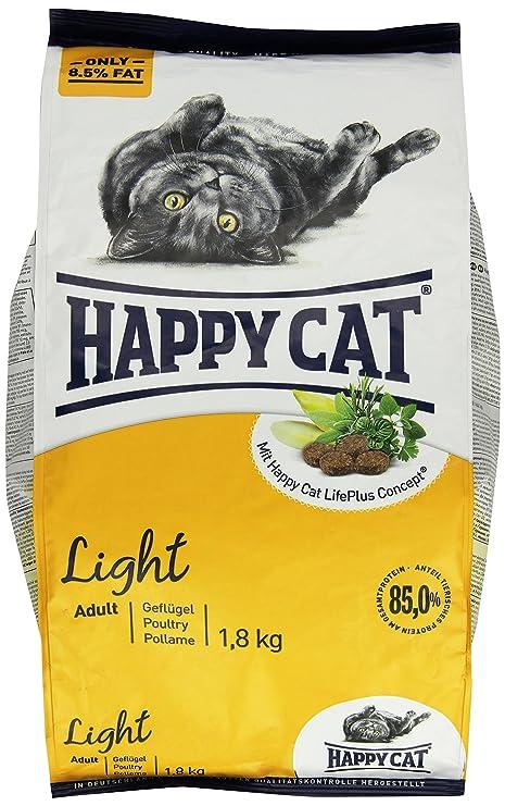 Happy Cat Fit & Well Light Comida para Gatos - 1400 gr: Amazon.es ...
