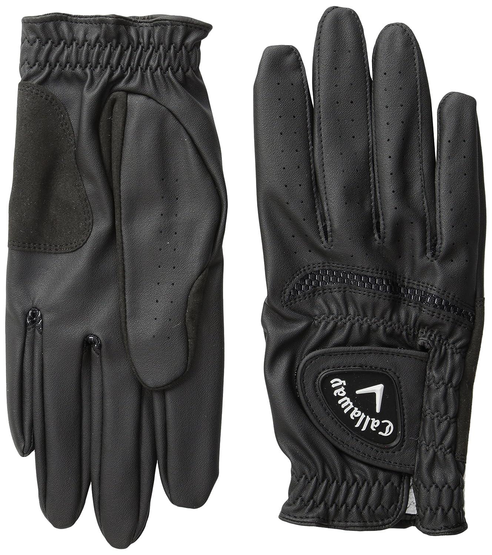 Black golf gloves - Amazon Com Callaway Men S Opti Grip Golf Gloves Pack Of 2 Sports Outdoors