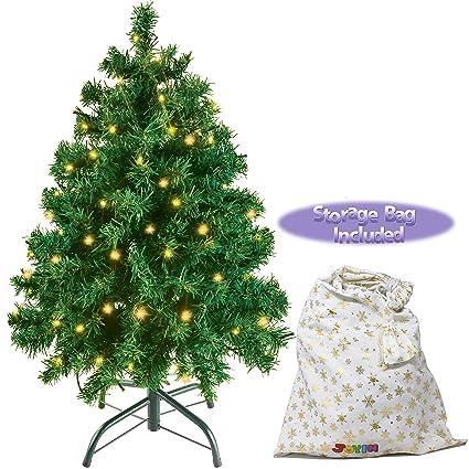 Artificial Christmas Tree With Lights.Joyin 30 Prelit Premium Tabletop Artificial Christmas Tree Artificial Christmas Tree With 100 Clear Led Lights And Metal Stand Storage Bag