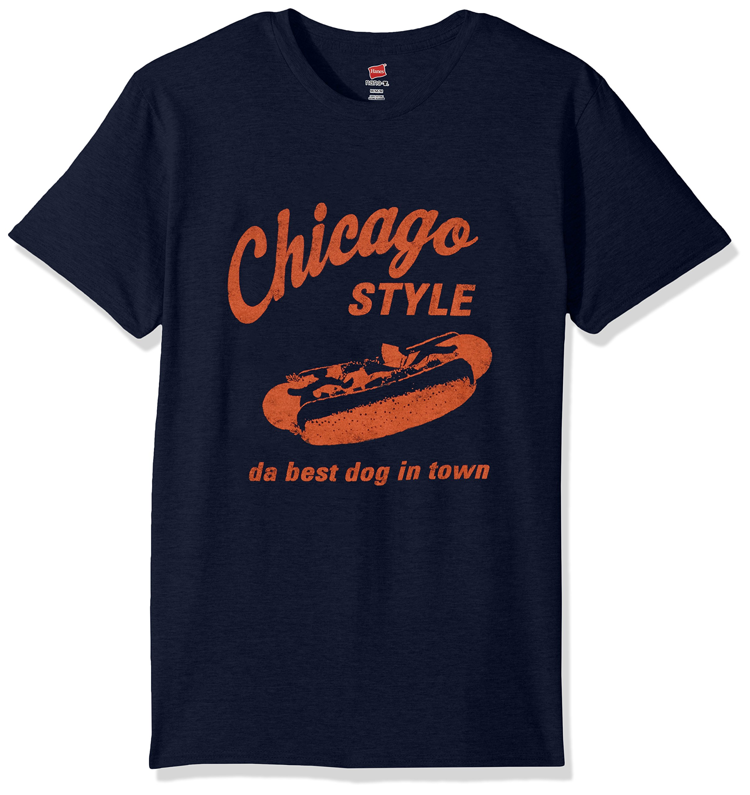 Hanes Men's Humor Graphic T-Shirt, Navy/Chicago, Small