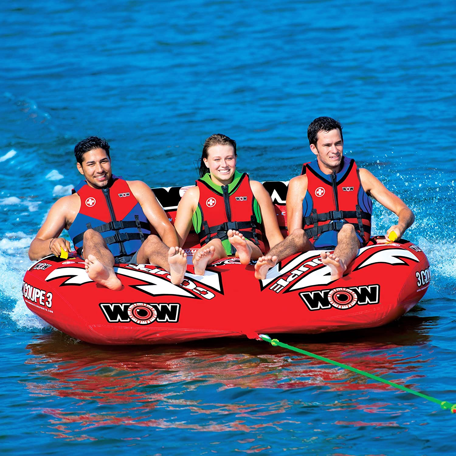 Durable Watersport 1 to 2 Person Coupe Cockpit Towable Tube with Backrest