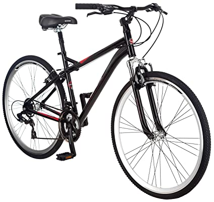 f81700bb98d Amazon.com : Schwinn Men's Siro Hybrid Bicycle 700c Wheel, Medium Frame  Size Black : Bike : Sports & Outdoors