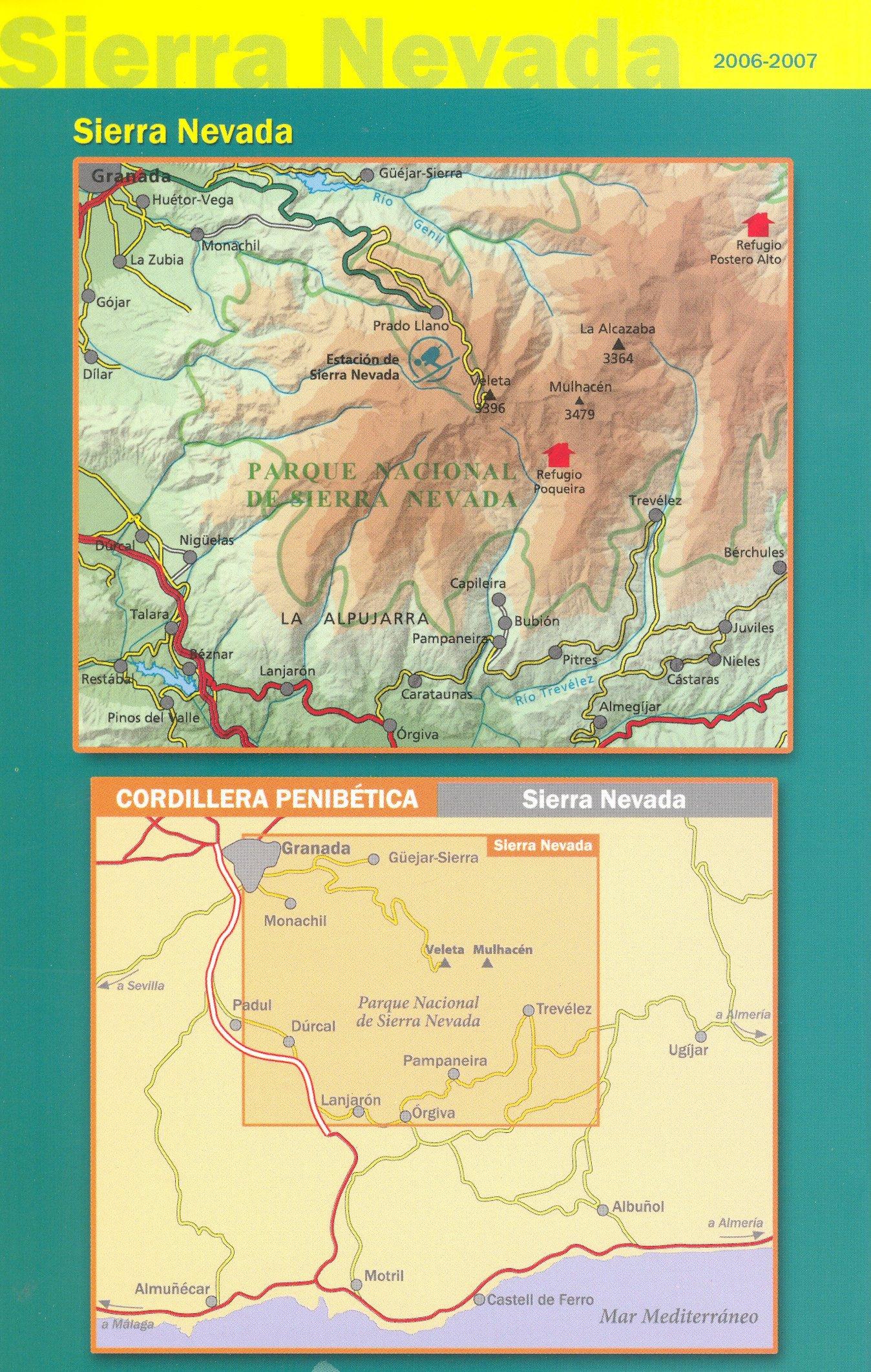 Sierra Nevada - La Alpujarra España, Pirineos 1:40.000 topográfico ...