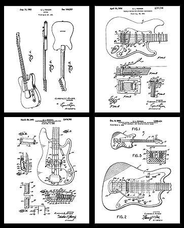 Fender Bass Guitar Wall Art