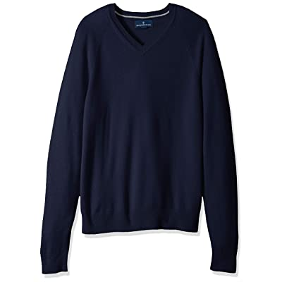 Brand - Buttoned Down Men's Standard 100% Cashmere V-Neck Sweater: Clothing