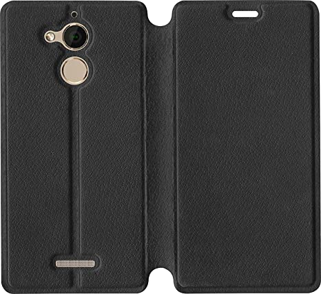 online retailer f43b8 e6588 SBMS Artificial Leather Flip Cover for Coolpad Note 5 (Black)