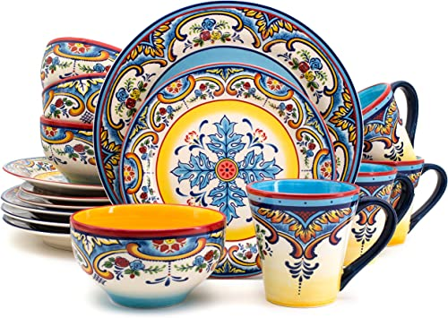 Euro Ceramica Inc. Ys-Zb-1001 Earthenware Set Dinnerware