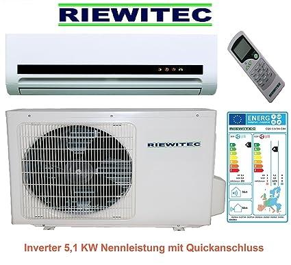Rápida conexión 5.1 KW Inverter split aire acondicionado RIEWITEC scc-51v3a-c84 (5.5