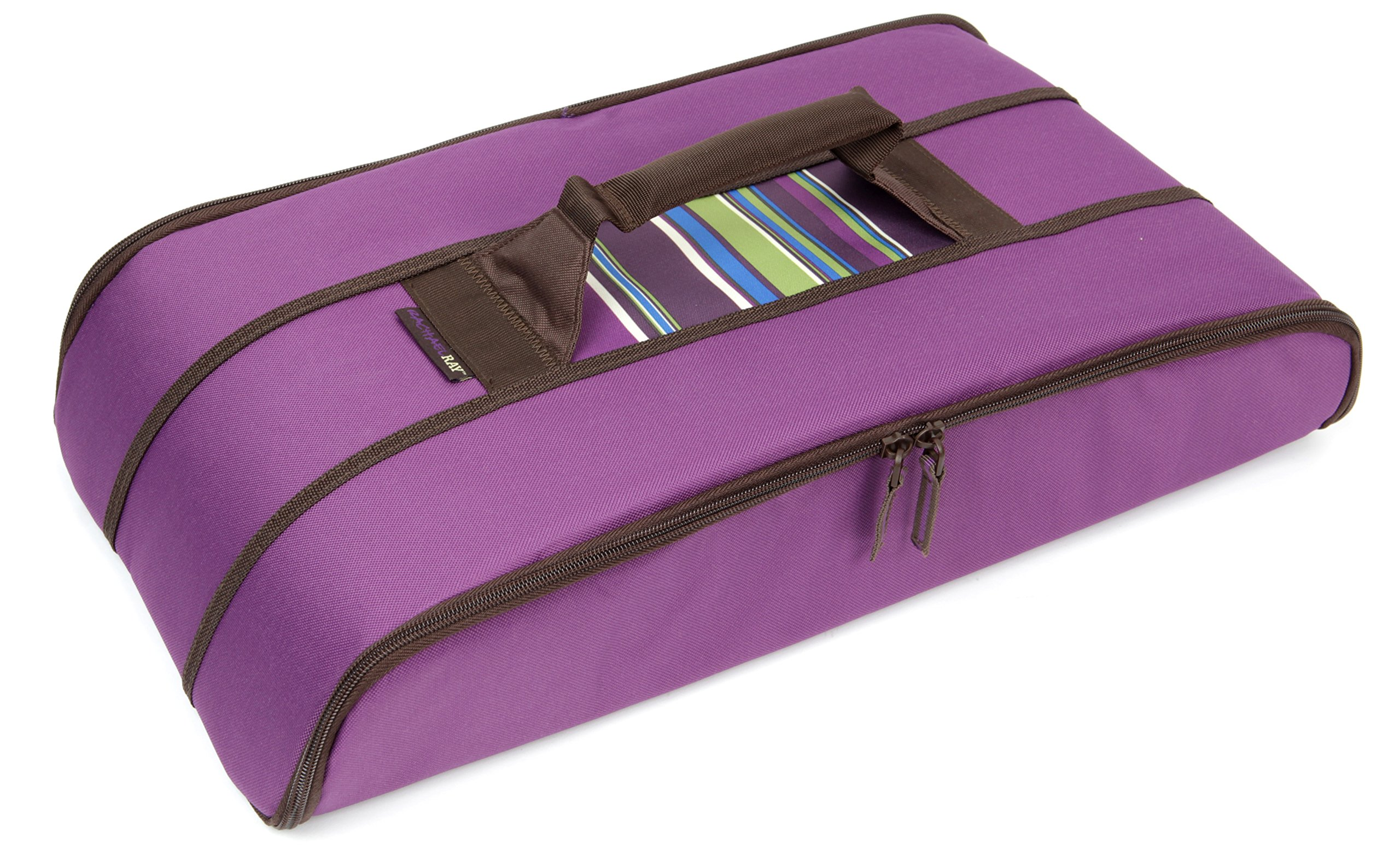 Rachael Ray Stowaway Potlucker, Holds Larger Casseroles / Baking Dishes Up To 10 X 15 Inches, Purple