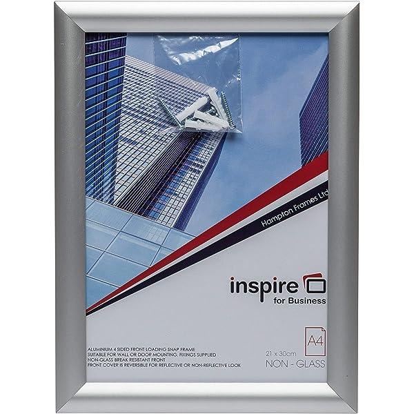 Paquete de 10 marcos de fotos A4, marco de 25 mm anodizado ...