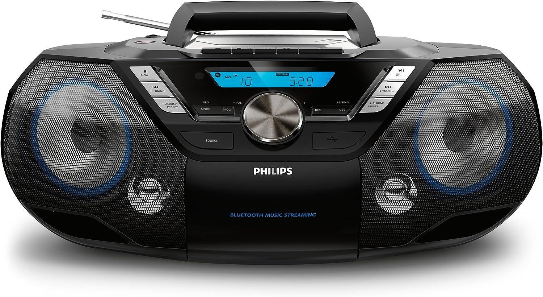 Philips Soundmachine Azb798t 12 Cd Soundmachine Bluetooth Musikempfänger Usb Direct Ukw Tuner Dab 12 Watt Schwarz Philips Heimkino Tv Video