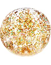 PoolCandy Gold Holographic Glitter Beach Ball