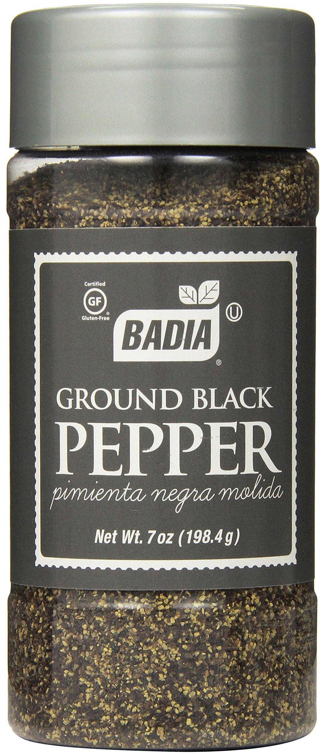 Badia Black Pepper Ground, 7-Ounce (Pack of 6)