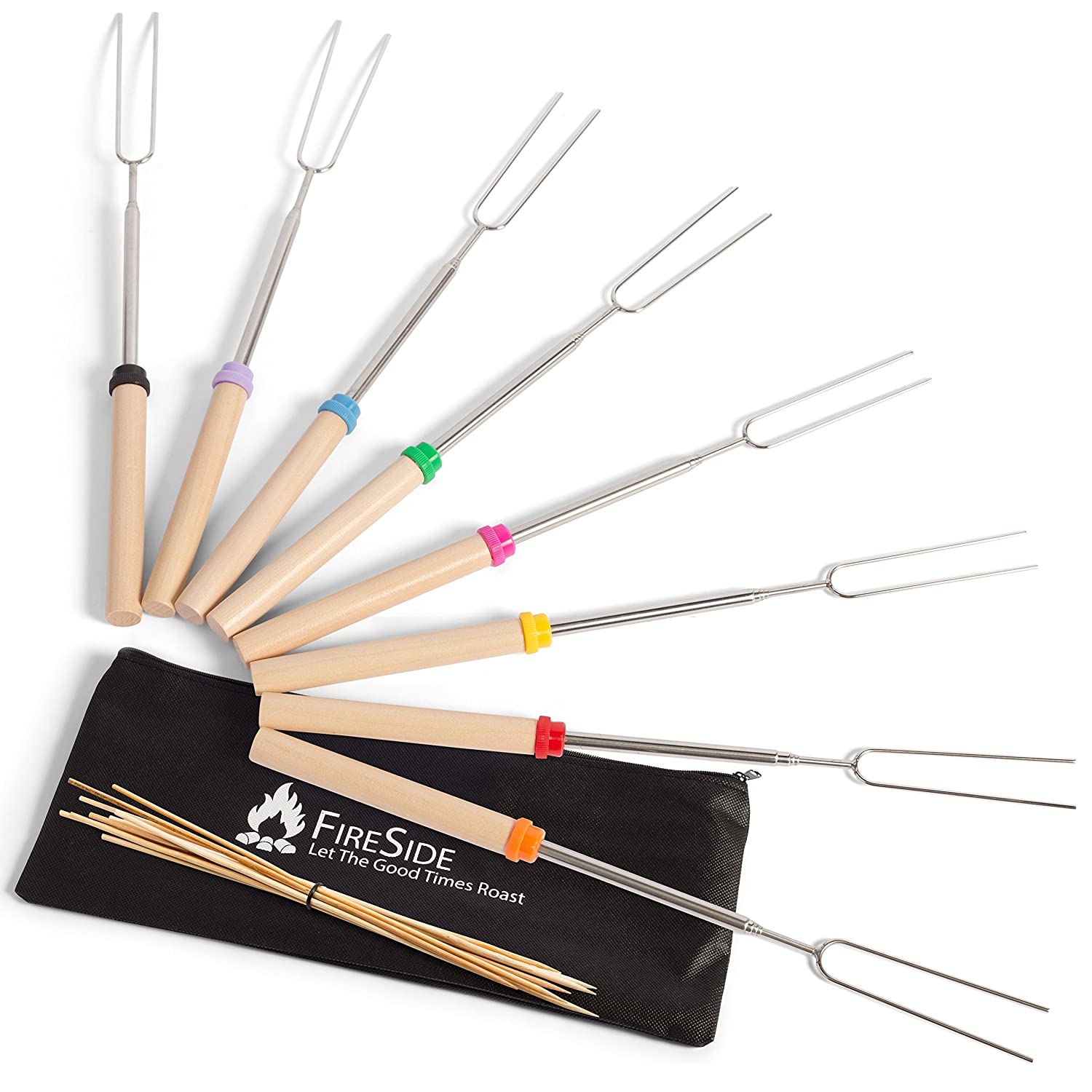 Fireside Marshmallow Roasting Sticks with 32-Inch ...