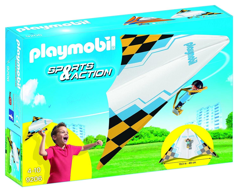 Playmobil Deltaplano con Pilota, Bianco, 1 Pezzo, Colore, 9206