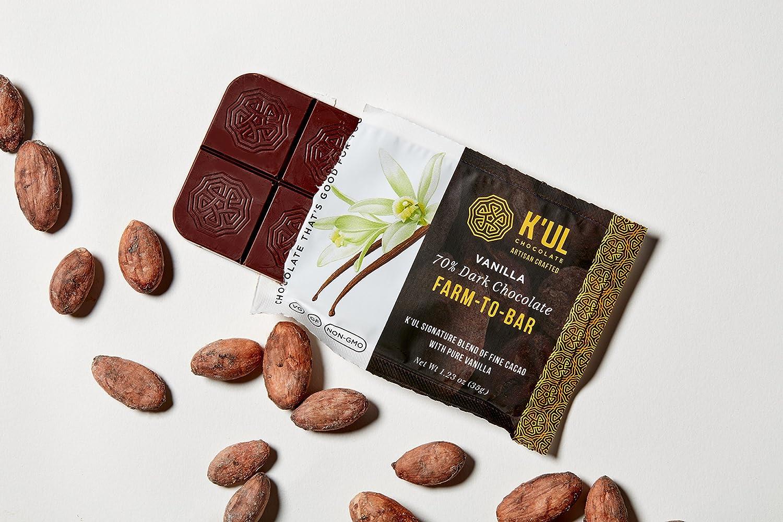 Amazon.com : K'UL 70% Dark Chocolate Farm-To-Bar Variety Pack ...