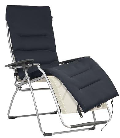 Lafuma Sdraio Relax.Lafuma Coprimaterasso Air Comfort Imbottito Per Sedia A Sdraio Relax Acier Nero Lfm2604 7278