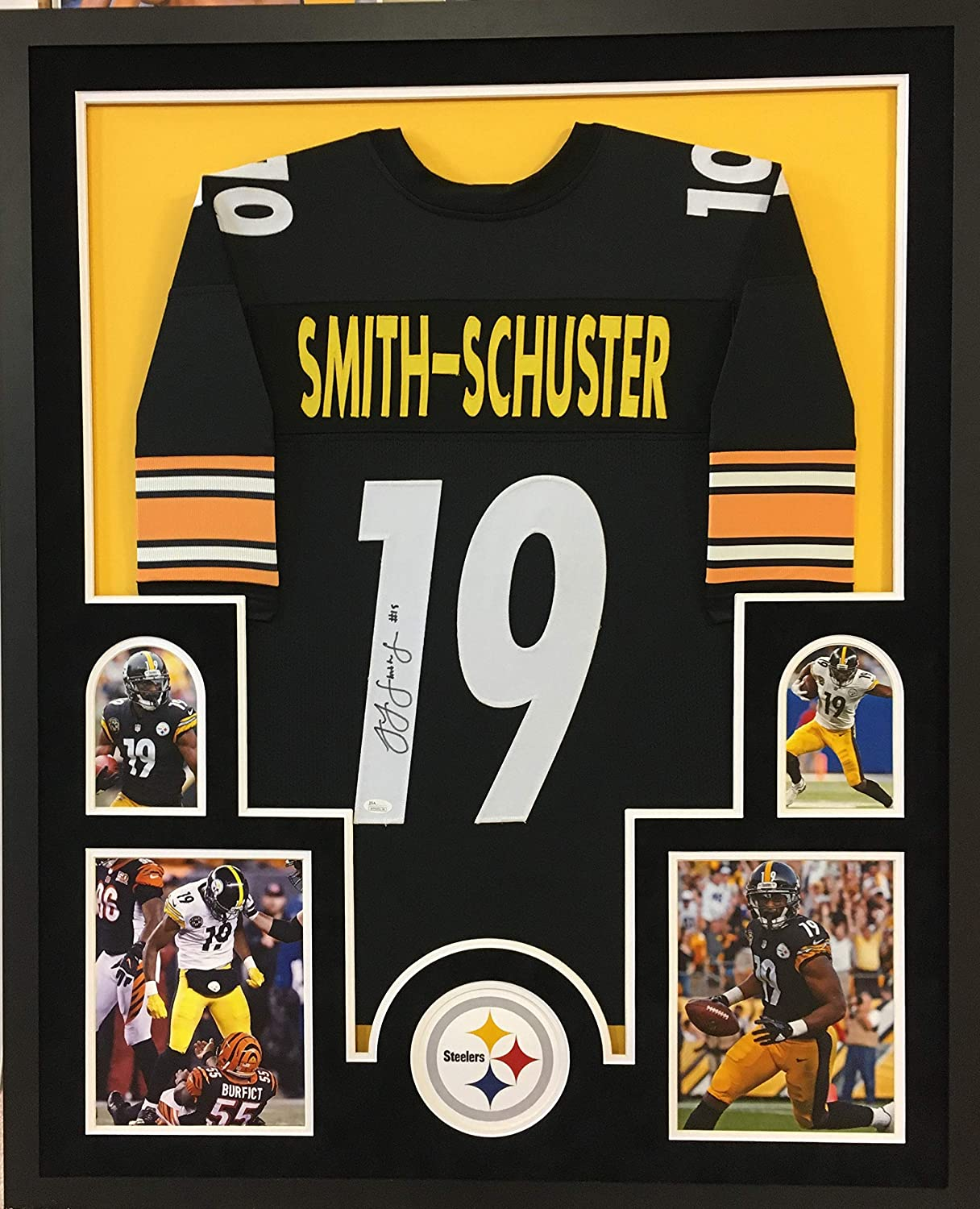 Juju Smith Schuster Pittsburgh Steelers Signed Autograph Embroidered Logo Football Fanatics Authentic Certified
