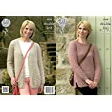 4177451fdb902 King Cole 4266 Knitting Pattern Leaflet Ladies Cardigan and Jumper to knit  in Panache DK