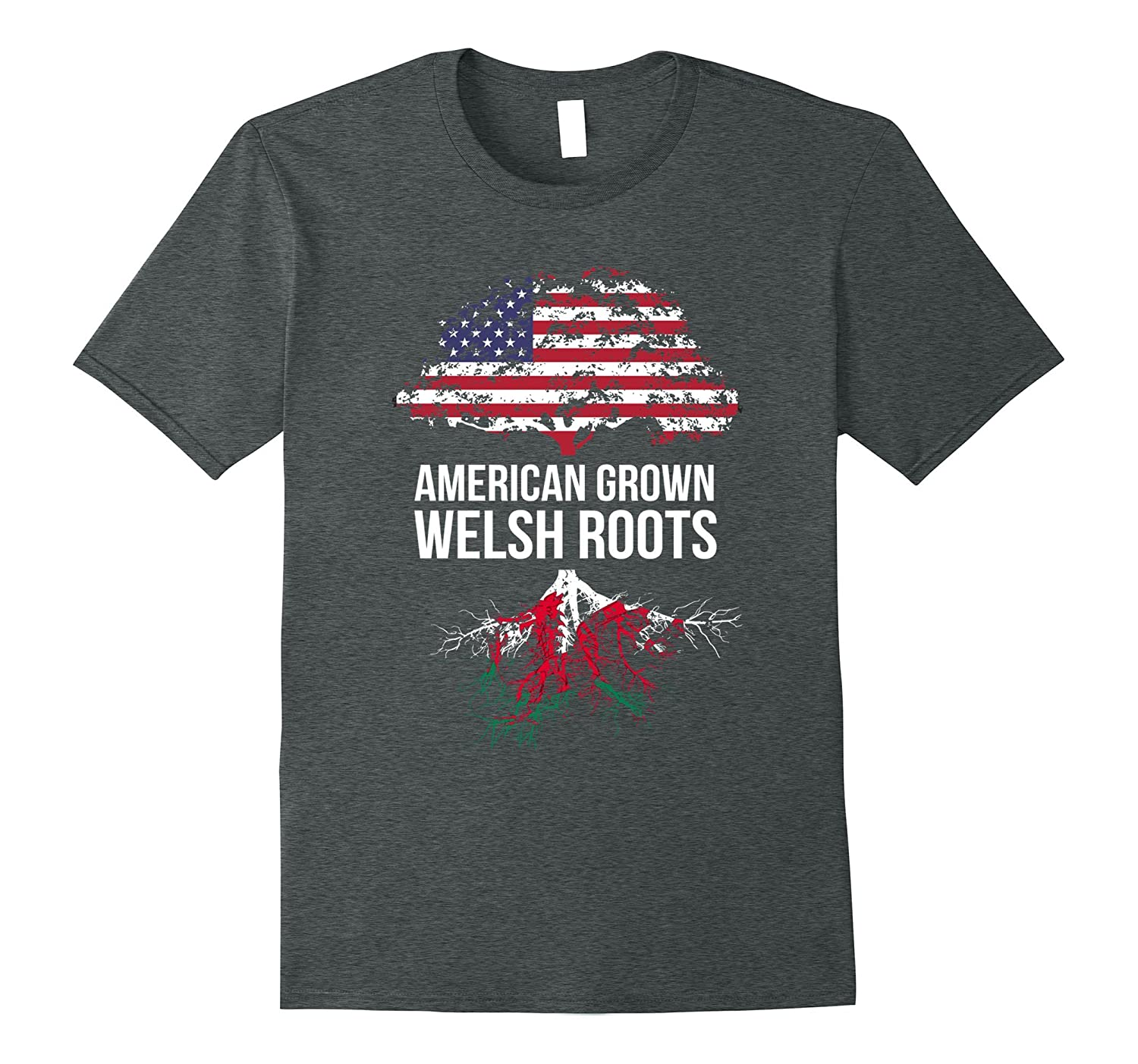 American Grown with Welsh Roots Shirt - Wales Tee-CL