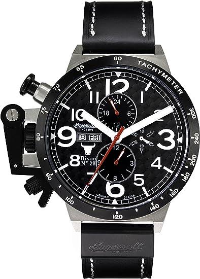 Ingersoll IN1607BK - Reloj analógico automático para hombre: Amazon.es: Relojes