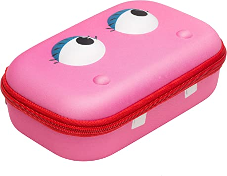 PINK Scissor Case Zippered with See-Through Lid
