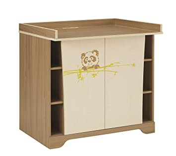 Panda Changing Table In Walnut And Oak