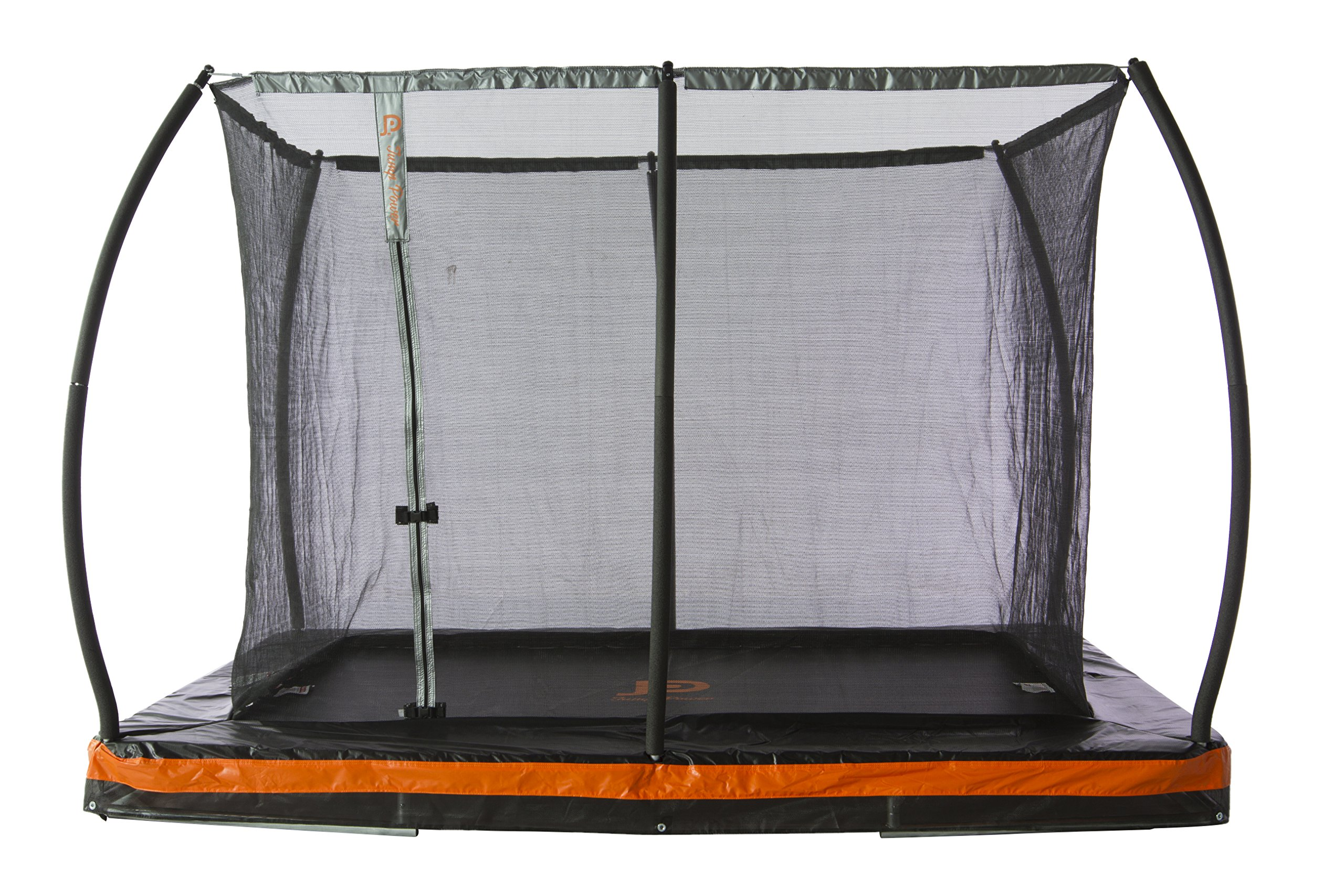 10ft. x 7.5ft. In-ground Rectangular Trampoline with Patented Safety Net Cable Wire Enclosure System - European Design by JUMP POWER