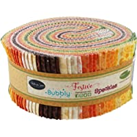Basically Patrick Blenders Autumn Garden Pinwheel 40 2.5-inch Strips Jelly Roll Patrick Lose Fabrics