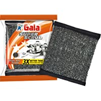 Gala Super Scrub Set (Black, Pack of 6)
