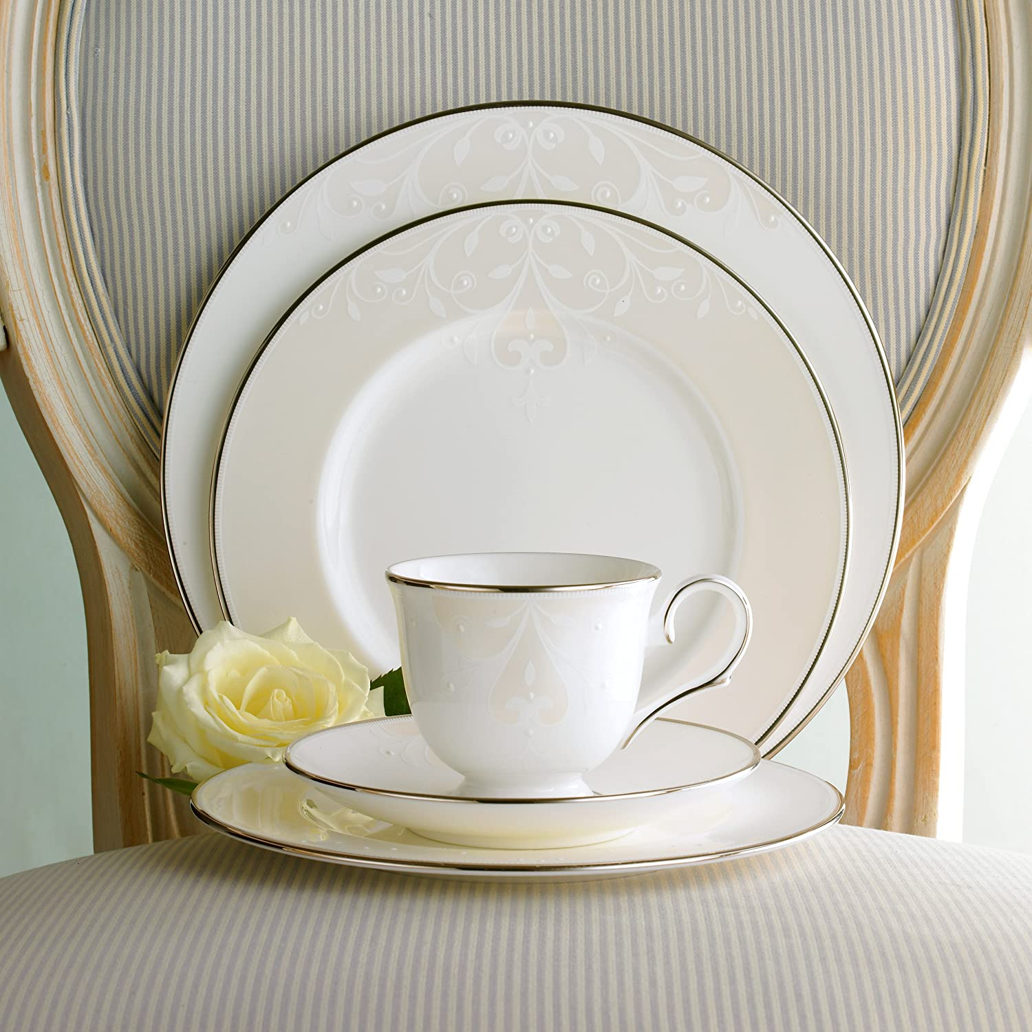 Amazon.com: Lenox Opal Innocence Scroll Place Setting, Service for 1:  Dinnerware Sets: Kitchen & Dining