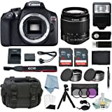 Canon EOS Rebel T6 Bundle With EF-S 18-55mm f/3.5-5.6 IS II Lens + Best Canon Camera Advanced Accessory Kit - Including EVERYTHING You Need To Get Started