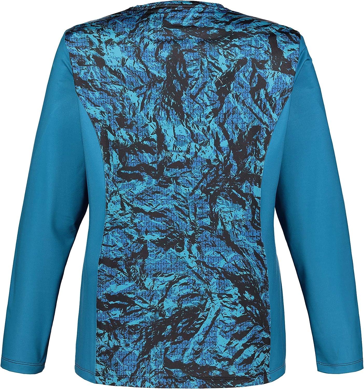 Ulla Popken Womens Plus Size Triple Function Colorblock Top 719058