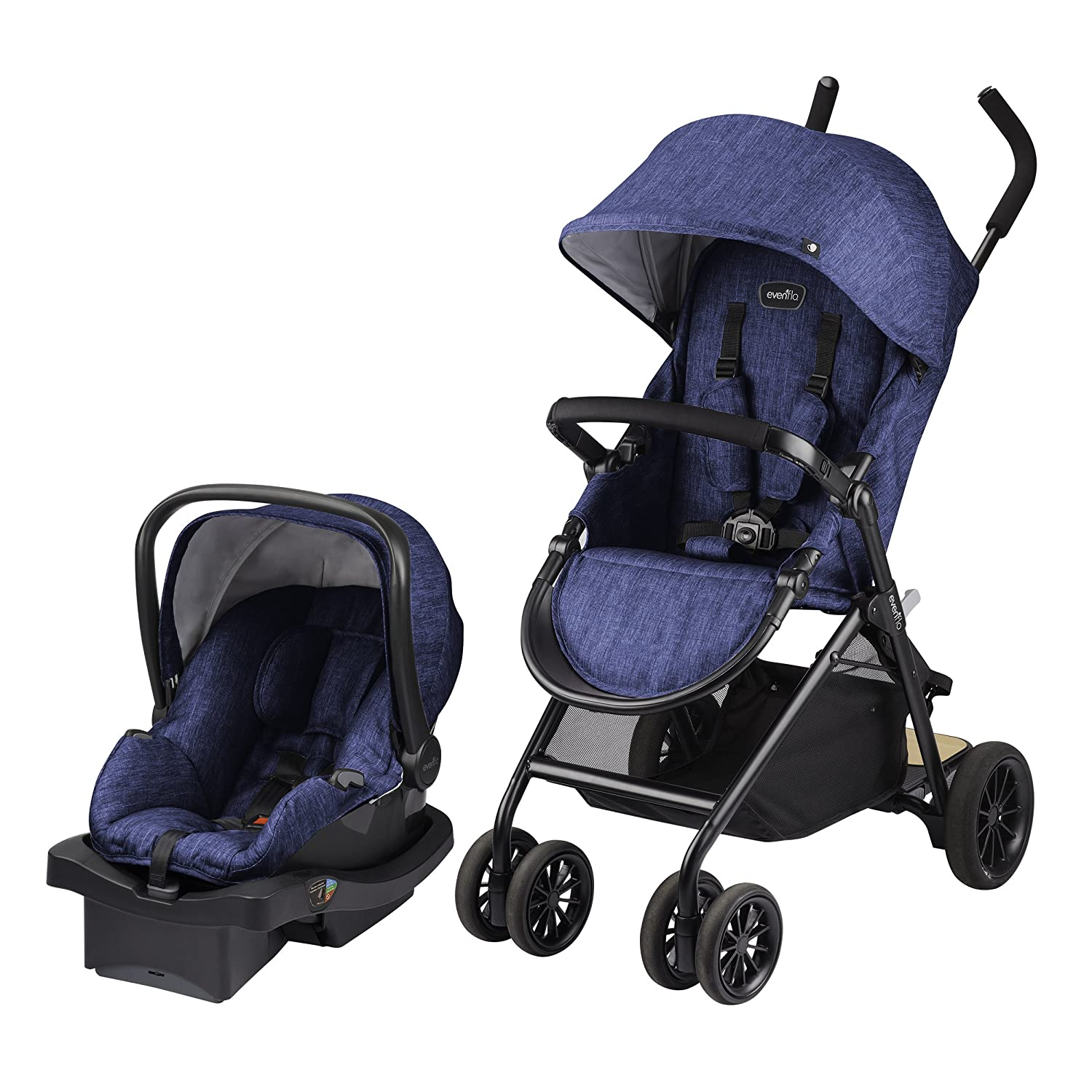Evenflo Sibby Travel System with LiteMax, Black, Blue, One Size 56211977