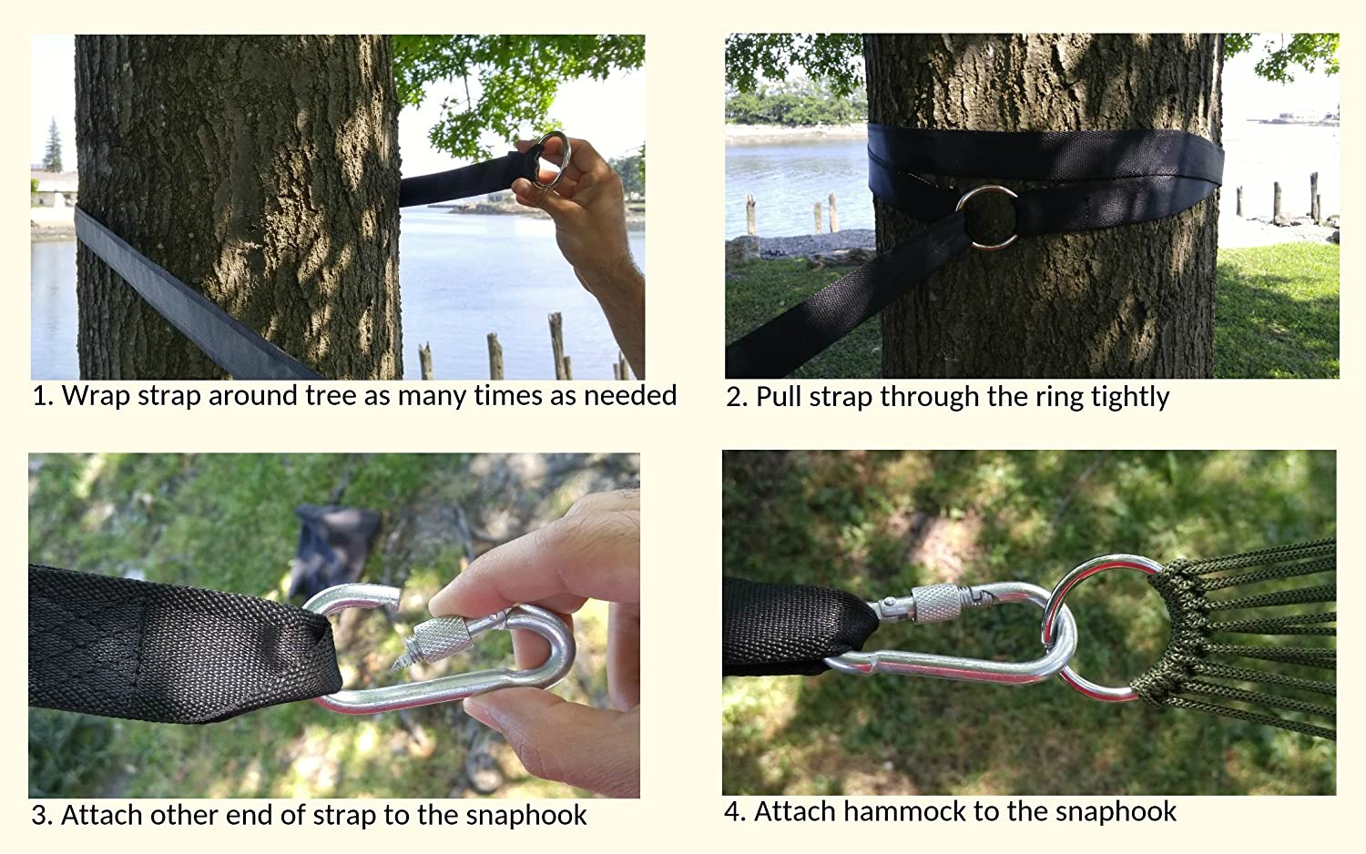 amazon    hammock straps xl   easiest way to hang any hammock on any tree  don u0027t risk your back   camping accessories supplies include ultralight     amazon    hammock straps xl   easiest way to hang any hammock on      rh   amazon