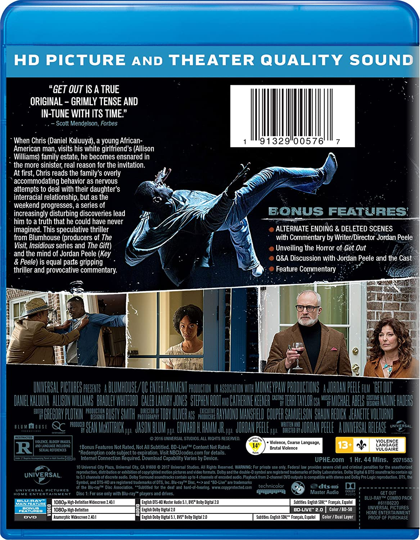 Get Out 2 Blu-Ray Edizione: Stati Uniti Italia Blu-ray: Amazon.es: Daniel Kaluuya, Allison Williams, Bradley Whitford, Catherine Keener, Caleb Landry Jones, Marcus Henderson, Betty Gabriel, LaKeith Stanfield, Stephen Root, Lil Rel Howery,