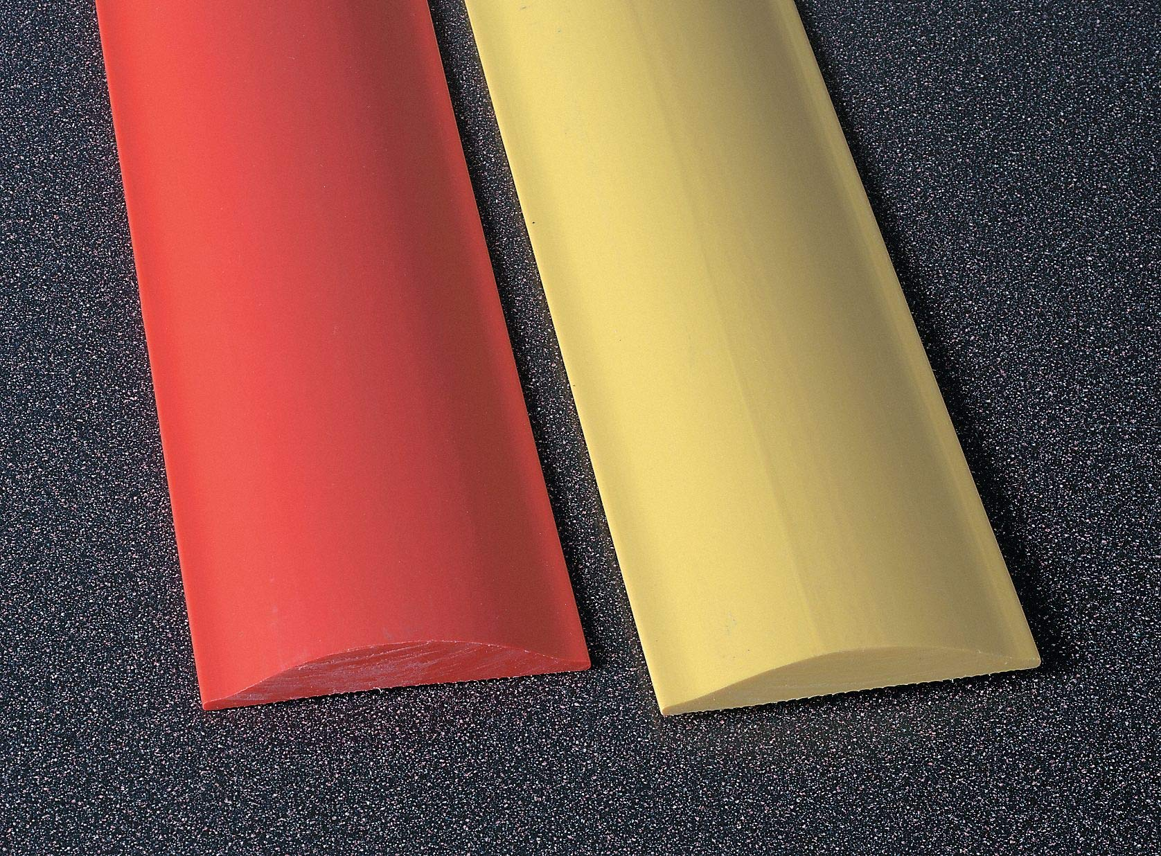 Rumble Strip, Thermoplastic Alloy, 6 ft. x 1/2'' x 4'', Red, 2500 psi