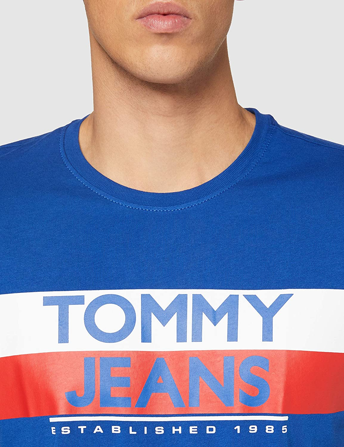 Azul Providence Tommy Jeans TJM Contrast Color Tommy tee Camisa XXL para Hombre
