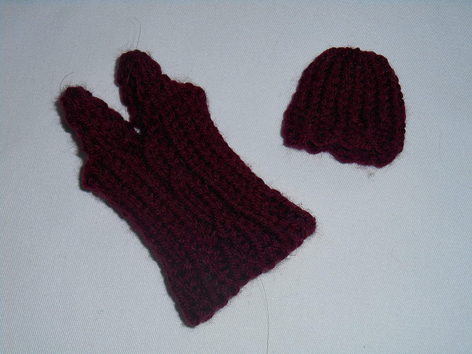Vest and Hat for Barbie Cable Knit in Wine color